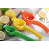 Gourmet Chef 8 inch Metal Lime Squeezer, Green - Easy Manual Citrus Hand Juicer with Superior Leverage Handles Kitchen Basics for Home and Restaurant