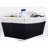 ATHome Coffee Foldable Light-Weight Storage Bin Organizer - Household Closet Essential Containers For Supplies and Accessories, Black
