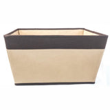 ATHome Coffee Foldable Light-Weight Storage Bin Organizer - Household Closet Essential Containers For Supplies and Accessories