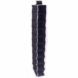 ATHome Hanging Clothes Vertical Storage Box (10 Shelving Units) Durable Accessory Shelves - Easy Set up Closet Cubby, Sweater & Handbag Organizer - Clean & Tidy Wardrobe, Easy Mount, Black