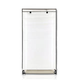 Lightweight, Durable, Sturdy, Dust and Moisture Proof, Easy Open T-Zipper, Portable Closet Wardrobe, 28 inches, White