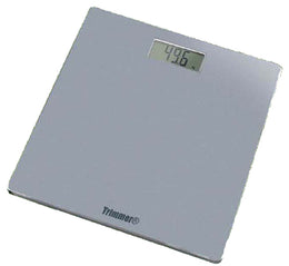 Trimmer Super Thin Digital Bathroom Bodyweight Weighing Scale with Non-Skid No Slip Surface for Home, Gym, Fitness, Silver