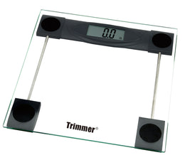 Trimmer Glass Digital Bathroom Bodyweight Weighing Scale for Home, Gym, Fitness, Clear
