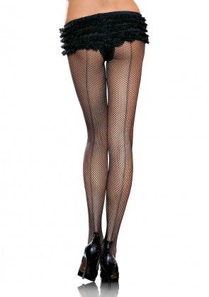 Back Seam Fishnet Pantyhose - 5inchesorbettershoes