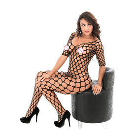 Circle Fishnet Bodystocking - 5inchesorbettershoes