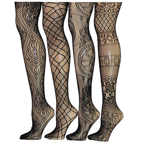 Designed Fishnets - 5inchesorbettershoes