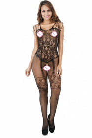 Floral & Lace Bodystocking - 5inchesorbettershoes