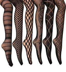 Designed Fishnet Pantyhose - 5inchesorbettershoes