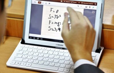 Tablet computers during math lessons may help increase the quality of teaching