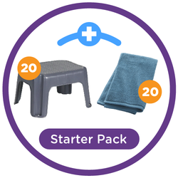 PreK Starter Pack (20 step stools and 20 towels)