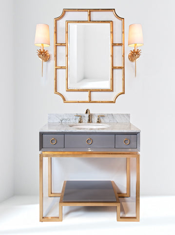 worlds away vanity in nickel or gold leaf