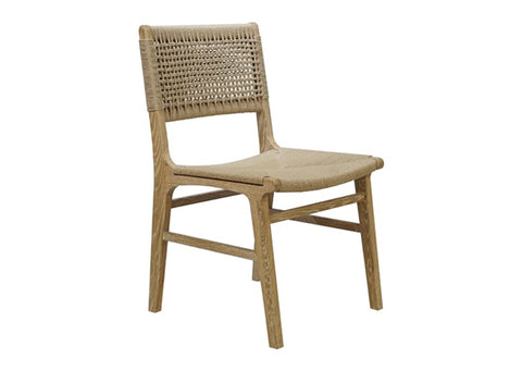 Worlds Away Monroe Rustic Oak Dining Chair