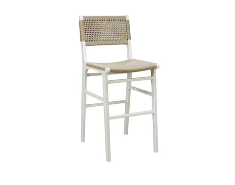 Worlds Away Carson White Bar Stool