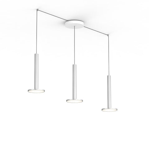 Pablo Designs Cielo XL Multilight Pendant in Satin Aluminum - Matthew Izzo Home