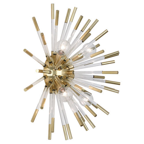 Robert Abbey Andromeda Wall Sconce, Acrylic and Nickel - Matthew Izzo Home