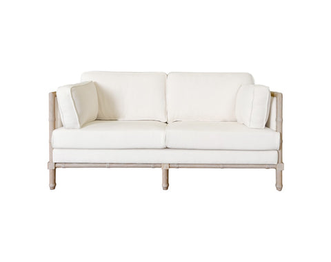 Worlds Away Ainsley Ivory Weave Sofa