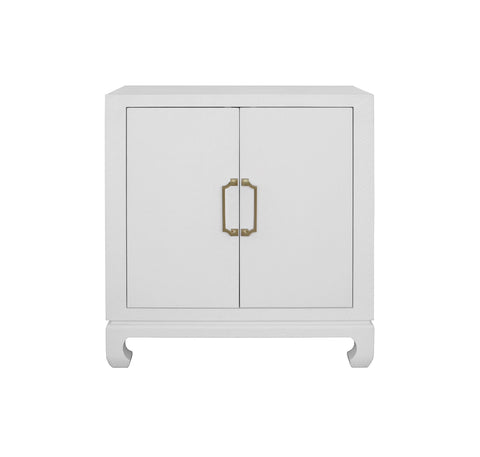 Worlds Away Renwick White Lacquer Accent Chest - Matthew Izzo Home
