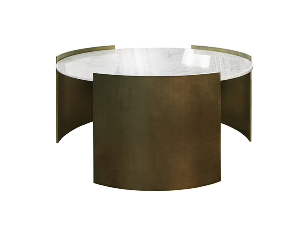 Worlds Away Montana Modern Bronze Coffee Table - Matthew Izzo Home