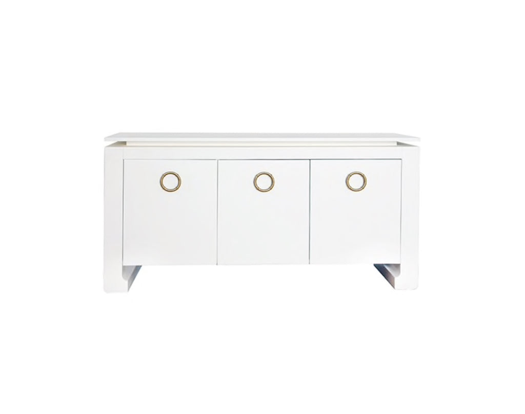Worlds Away Tilley Matte White Buffet - Matthew Izzo Home