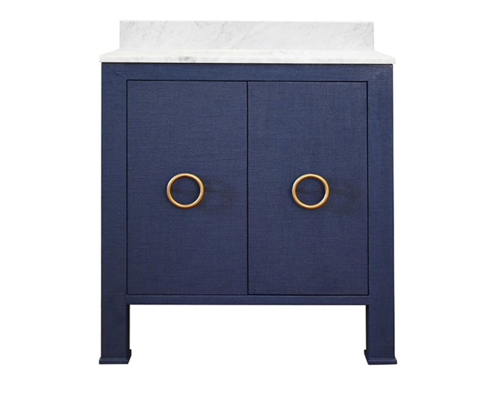 Worlds Away Blanche Navy Bath Vanity