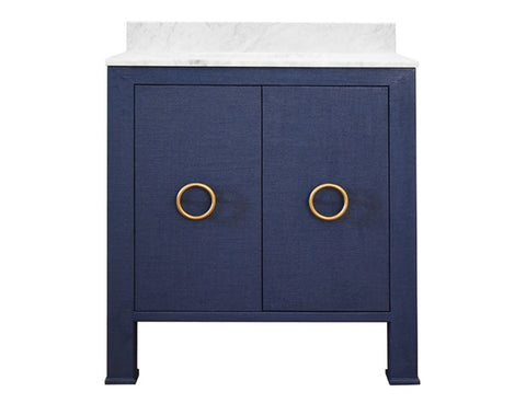 Worlds Away Blanche Navy Bath Vanity - Matthew Izzo Home