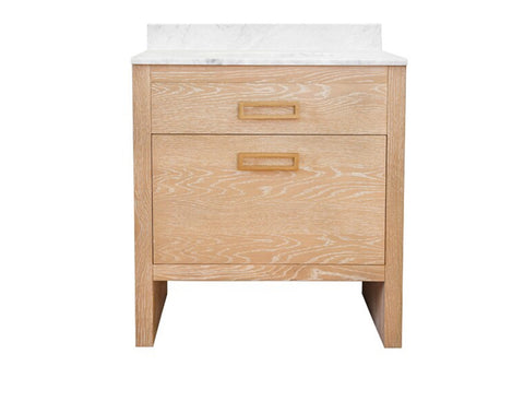 Worlds Away Seth Cerused Oak Bath Vanity - Matthew Izzo Home