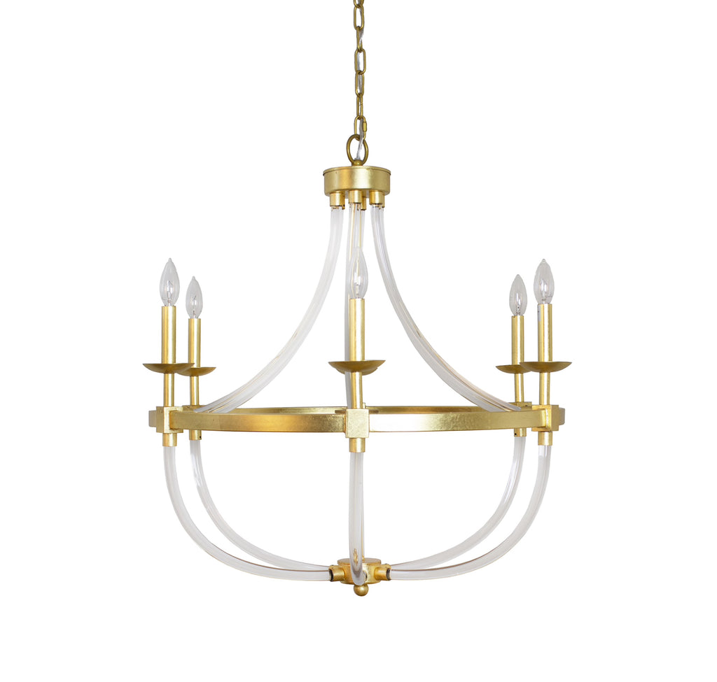 Worlds Away Layla Gold Leaf Chandelier - Matthew Izzo Home