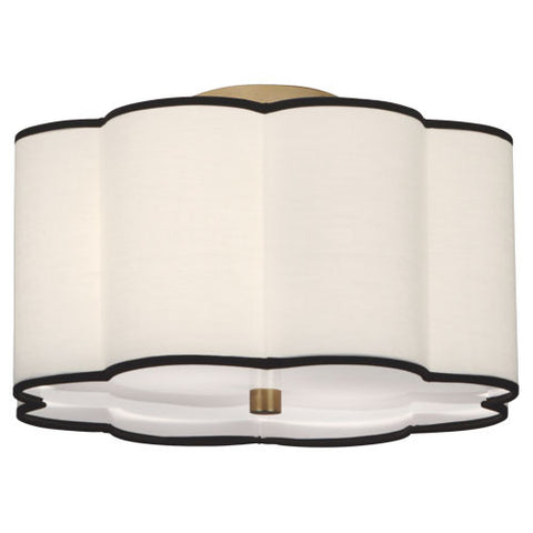 "Robert Abbey Axis 16"" Semi-Flush Mount - Matthew Izzo Home"