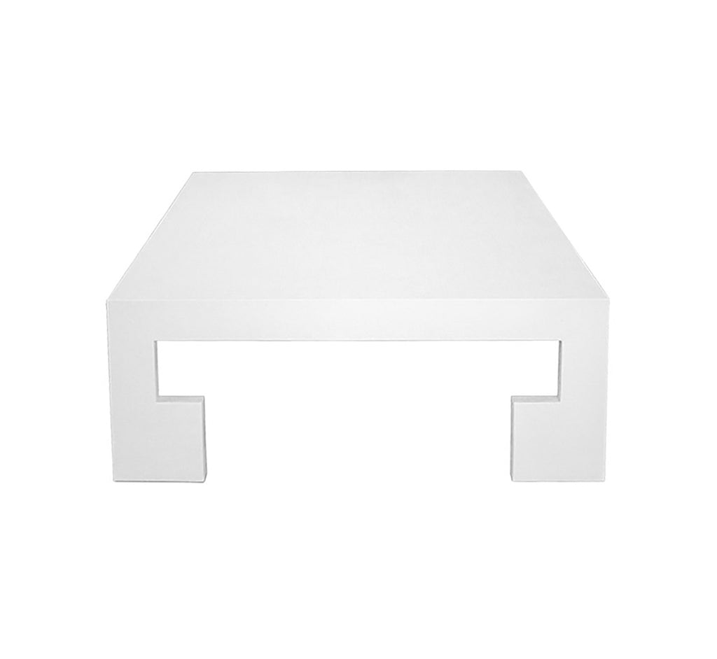Worlds Away Kaplan White Coffee Table - Matthew Izzo Home