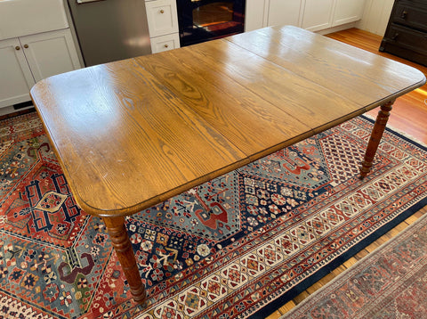 Antique Oak Farm House Extension Table - Matthew Izzo Home