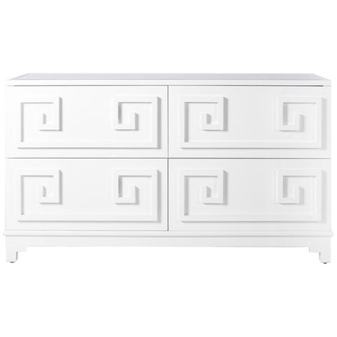 Worlds Away Werstler Four Drawer Veneer Dresser - Matthew Izzo Home