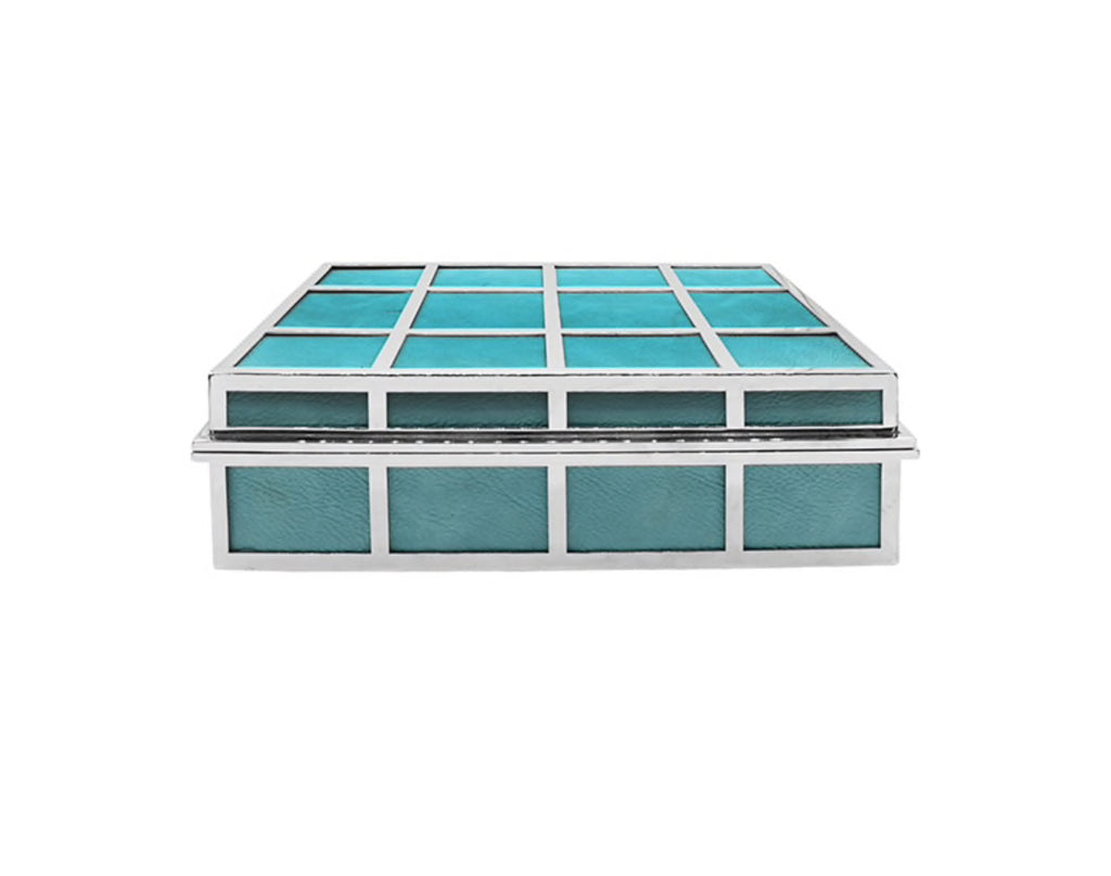 Worlds Away Percy Turquoise Decorative Box - Matthew Izzo Home