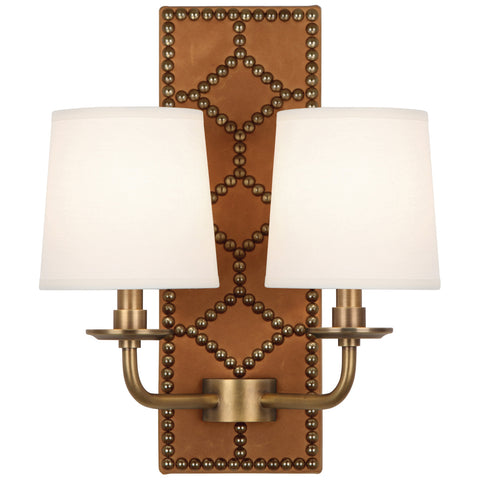 Robert Abbey Williamsburg Lightfoot Double Sconce