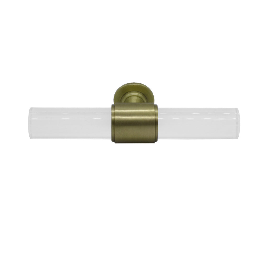 Worlds Away Rutherford Acrylic Pole Handle - Matthew Izzo Home