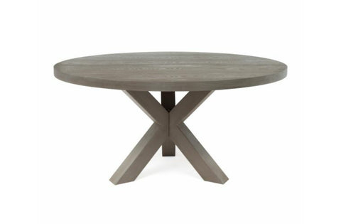 Worlds Away Greer Round Grey Dining Table