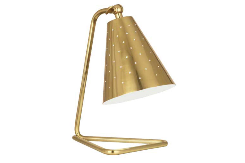Robert Abbey Pierce Brass Task Table Lamp - Matthew Izzo Home