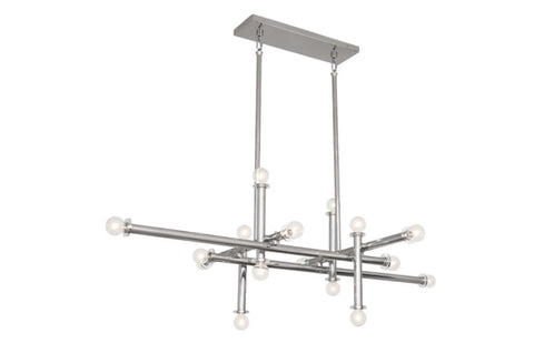 Jonathan Adler Milano Polished Nickel Linear Chandelier - Matthew Izzo Home