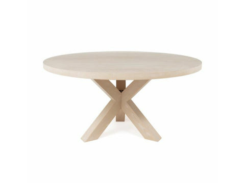 Worlds Away Greer Round Oak Dining Table