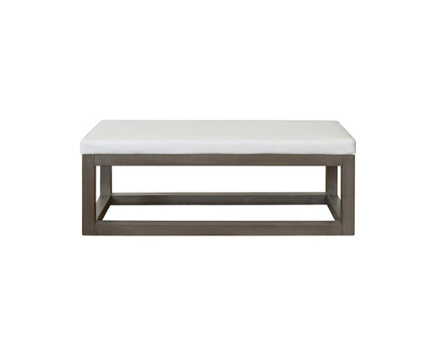 Worlds Away Dunham Rectangular Grey Bench
