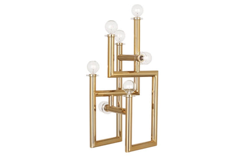 Jonathan Adler Milano Polished Brass Modernist Table Lamp - Matthew Izzo Home