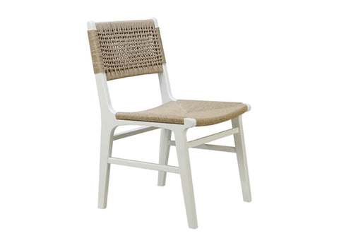 Worlds Away Monroe Rustic White Dining Chair
