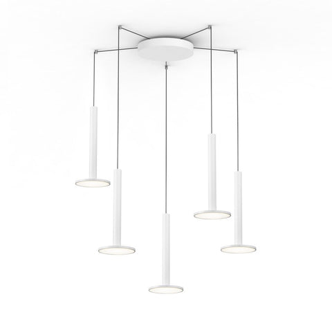 Pablo Designs Cielo XL Multilight Pendant in Gloss White - Matthew Izzo Home