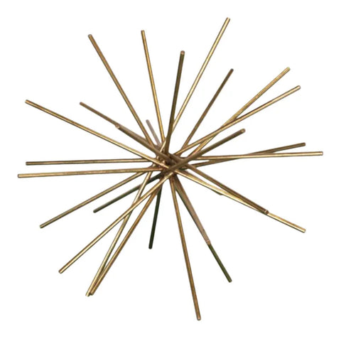 Worlds Away Urchin Iron Asterisk Sculpture - Matthew Izzo Home