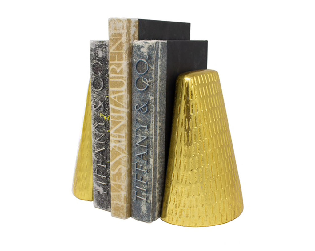Worlds Away Zoe Antique Brass Bookends - Matthew Izzo Home