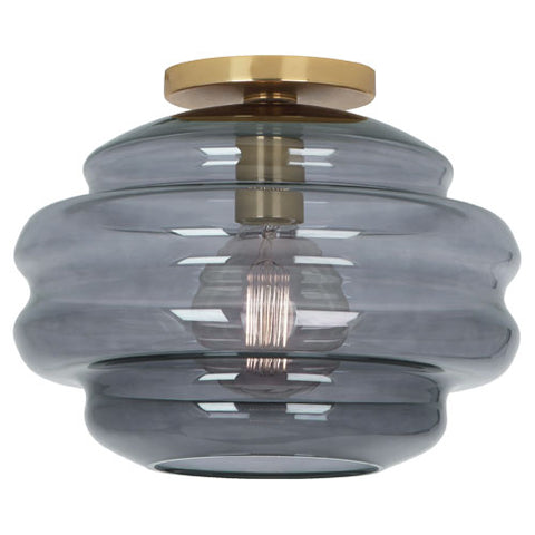 Robert Abbey Horizon Smoke Grey Glass Flushmount - Matthew Izzo Home