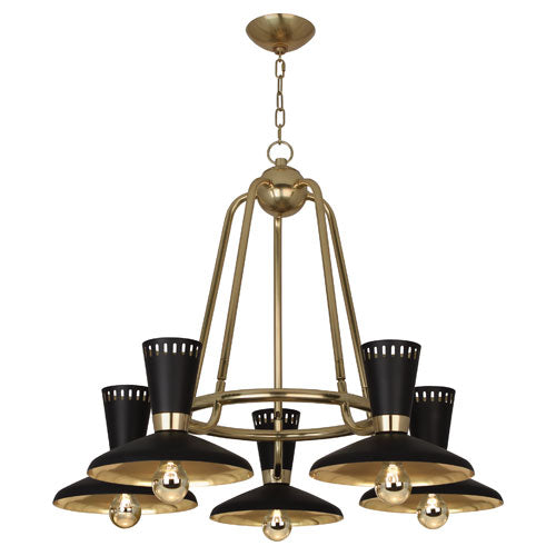 Robert Abbey Vortex Chandelier, Small - Matthew Izzo Home