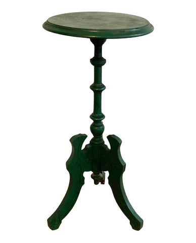 Antique Wood Pedestal Accent Table - Matthew Izzo Home
