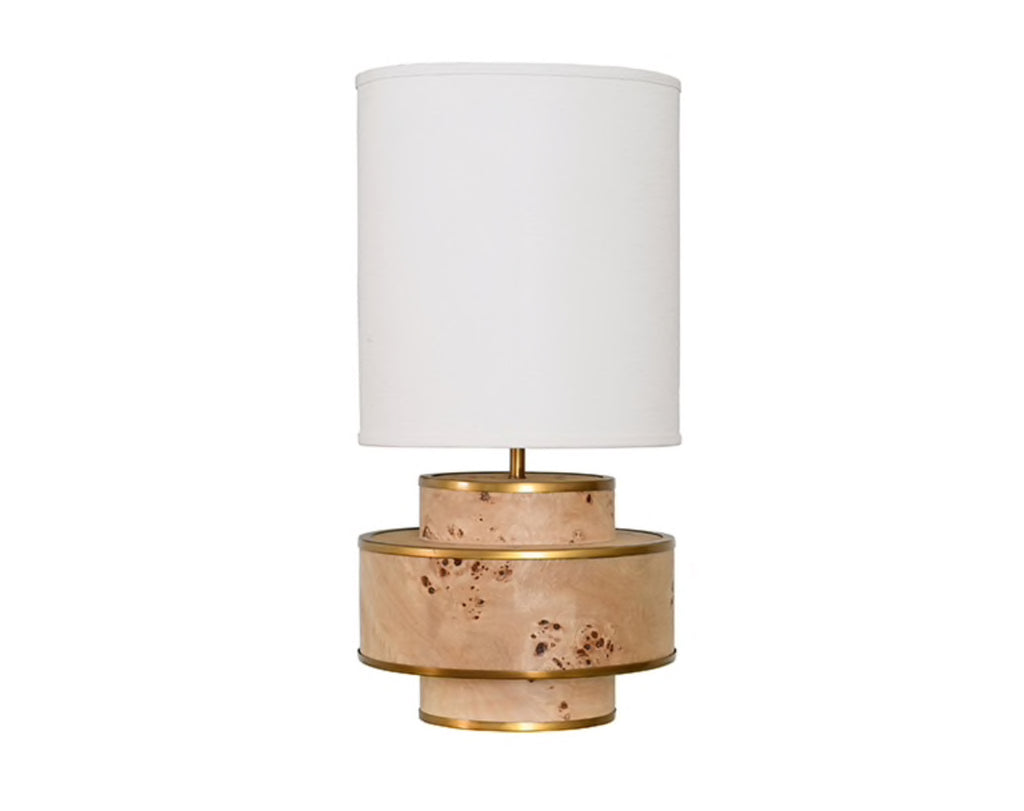Worlds Away Sherwyn Burl Wood Table Lamp - Matthew Izzo Home
