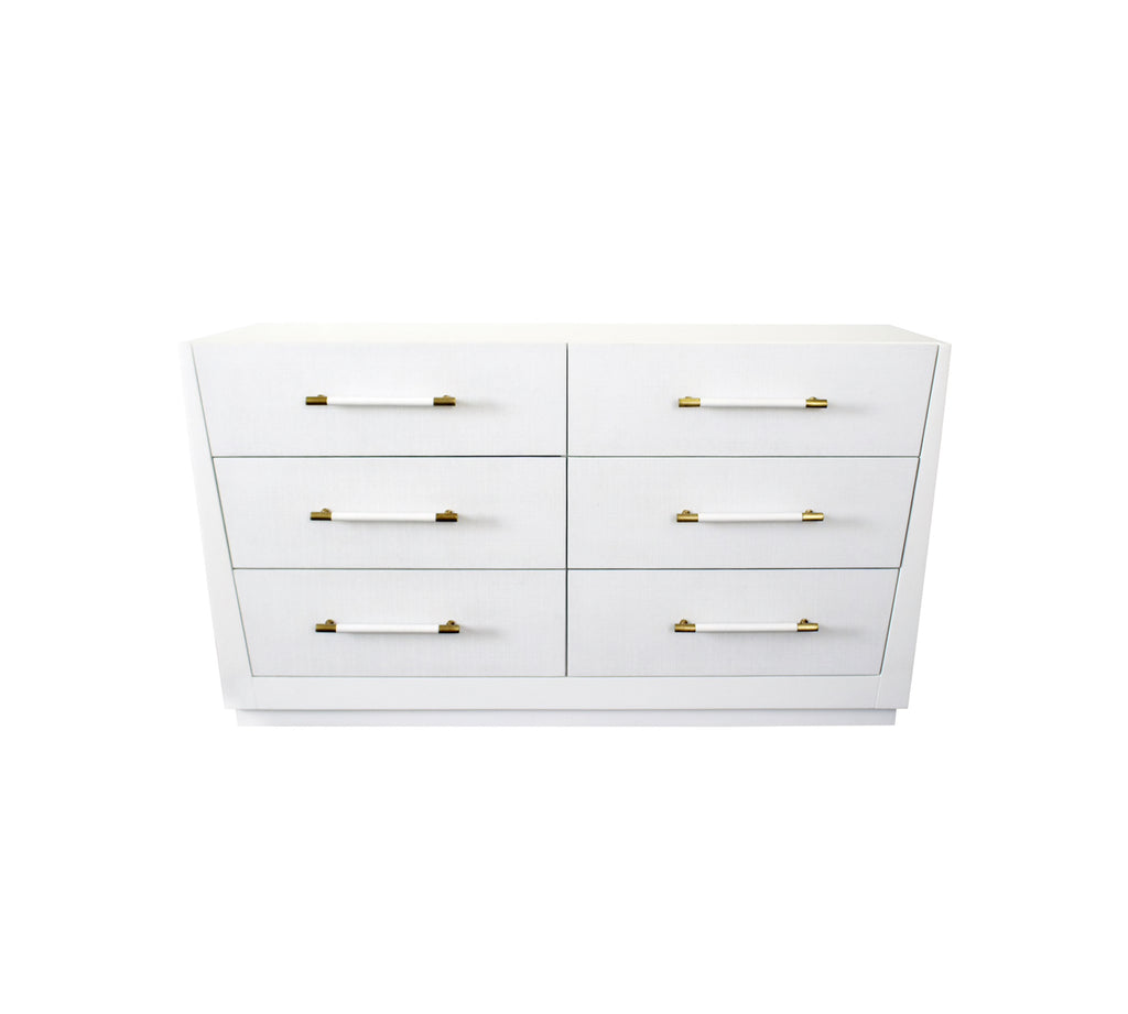 Worlds Away Madden White Lacquer Dresser