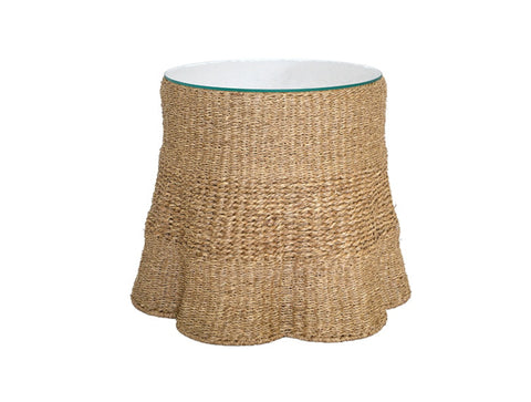 Worlds Away Misha Seagrass Side Table